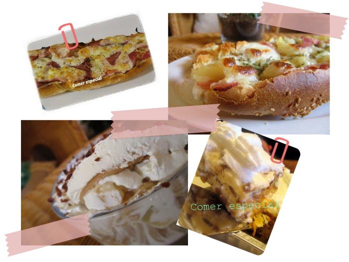 8 aniversario de Comer Especial - Panini con jamón y piña y tarta de piña