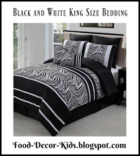 Black and White King Size Bedding sets