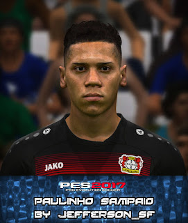 PES 2017 Faces Paulinho by Jefferson_SF