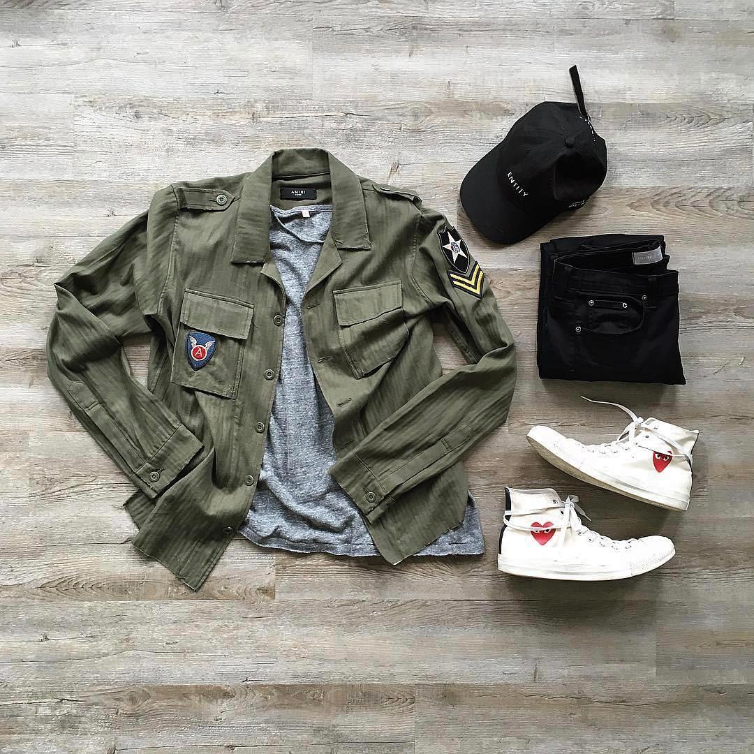 jaqueta masculina verde militar