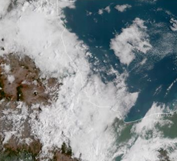 Persistencia de chubascos desde Tamaulipas hasta el sur de Veracruz