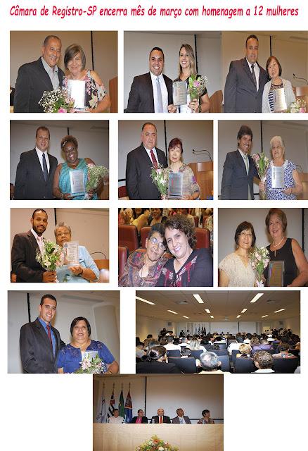 Câmara de Registro-SP encerra mês de março com homenagem a 12 mulheres