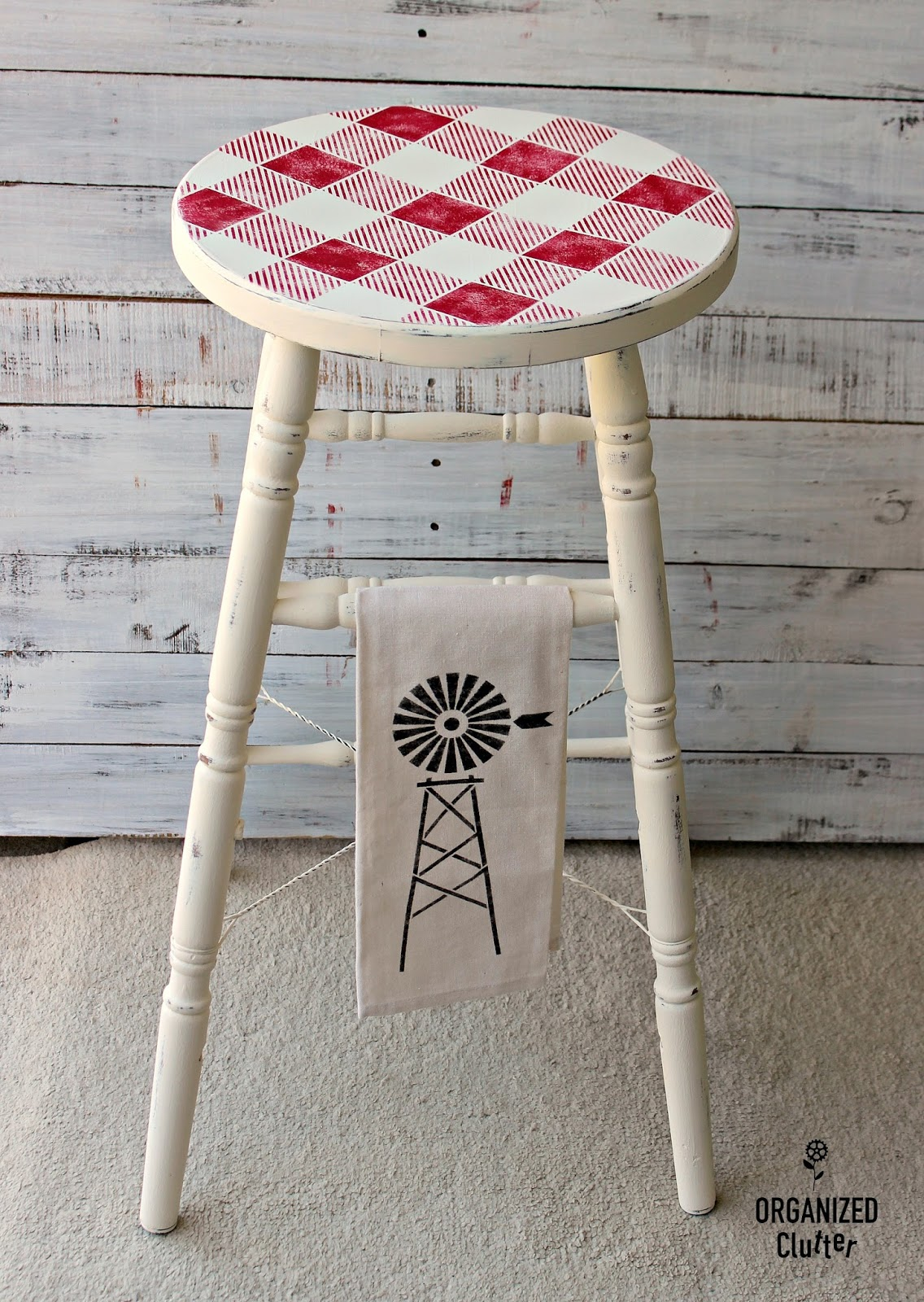 Pleasing Rummage Sale Stool Planter Upcycles With Paint Old Sign Andrewgaddart Wooden Chair Designs For Living Room Andrewgaddartcom