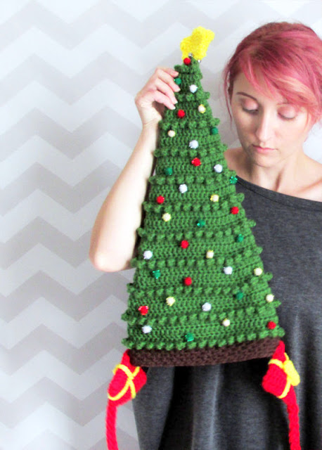 christmas tree hat crochet pattern