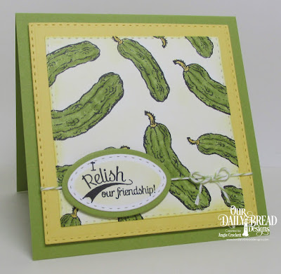 ODBD Pickles, ODBD Custom Double Stitched Squares Dies, ODBD Custom Stitched Ovals Dies, Card Designer Angie Crockett