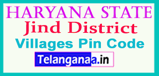 Jind District Pin Codes in Haryana State