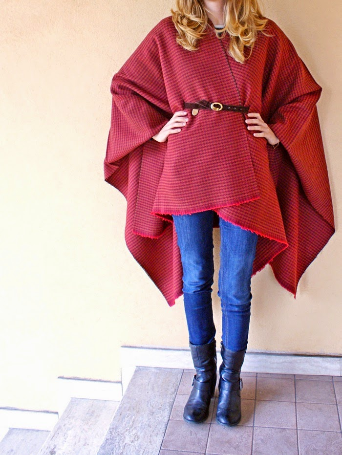 wool overcoat cape blanket diy