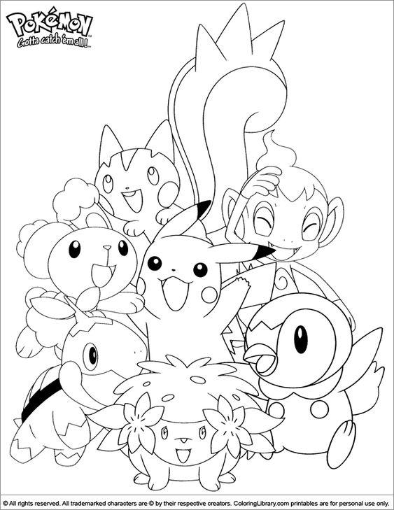 Tranh tô màu Pokemon 9