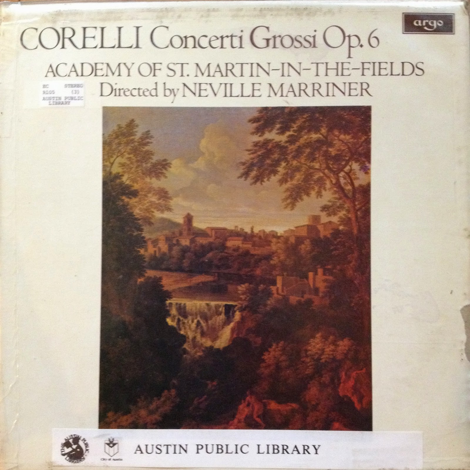 LP of Corelli, Concerti Grossi Op. 6