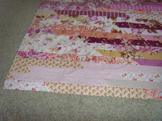 Jelly Roll Race Quilt by fabricandflowers   Sonia Spence