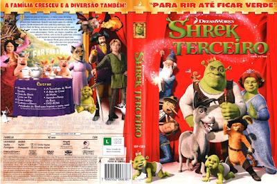 Filme Shrek Terceiro (Shrek The Third) DVD Capa