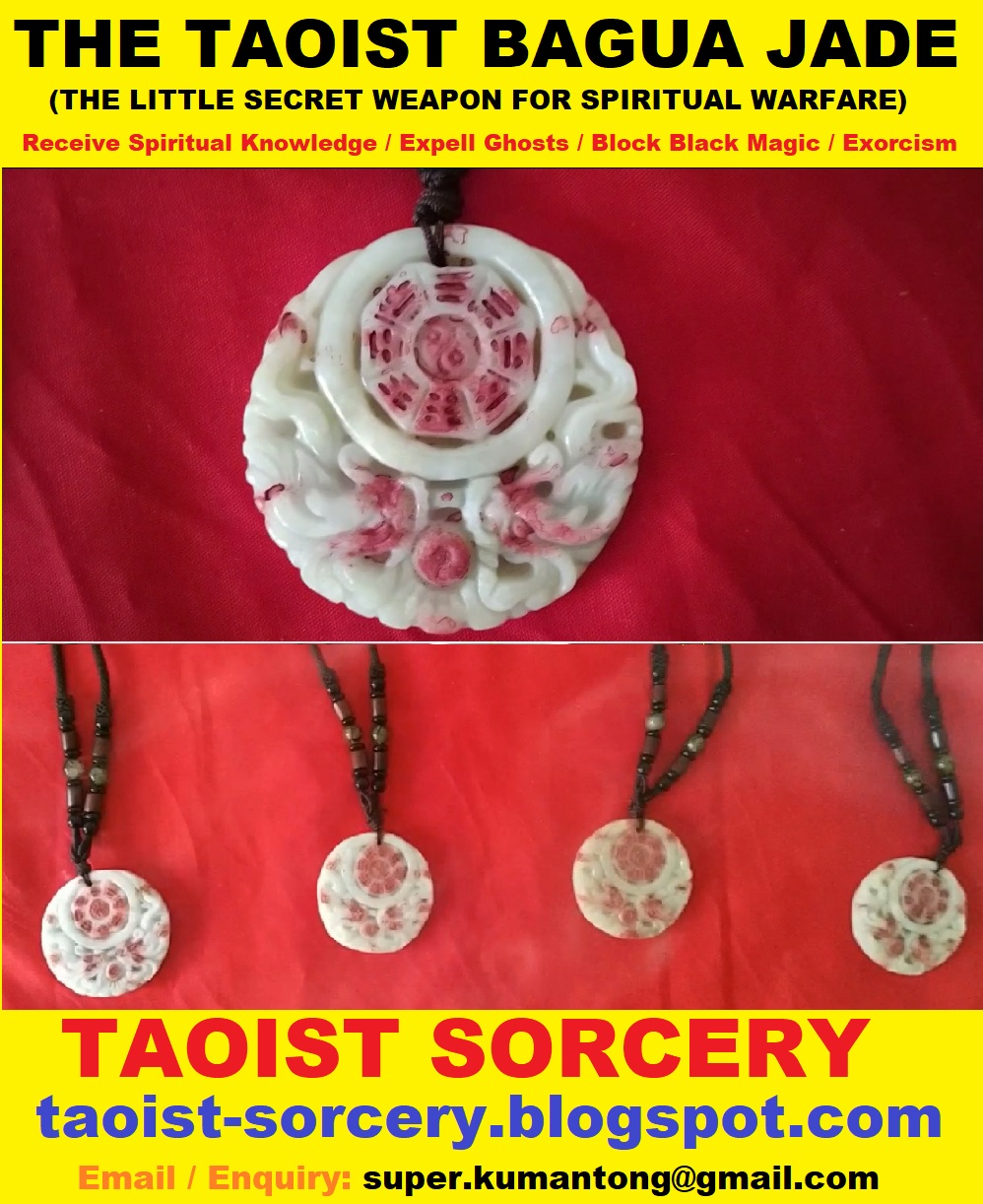 TAOIST SORCERY: The Taoist Bagua Jade (For expelling ghosts