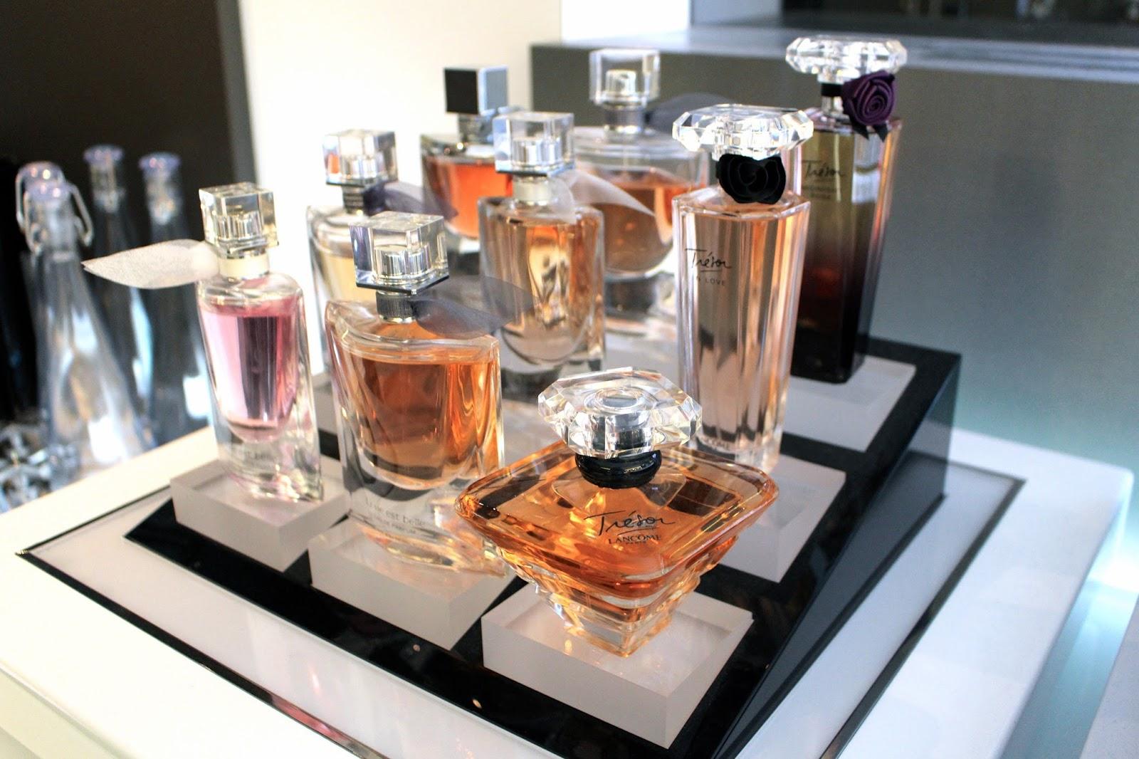 lancome perfume display