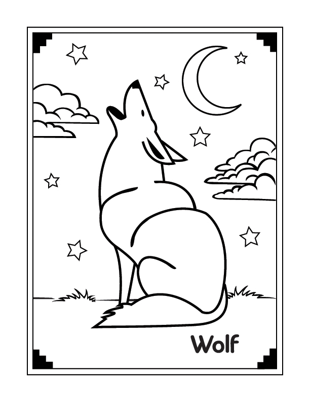 Wolf Coloring Pages to Print Download