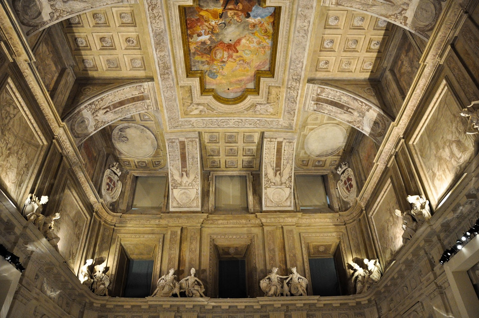 The ceiling of the ball room, First floor, Palazzo Madama, Turin, Italy