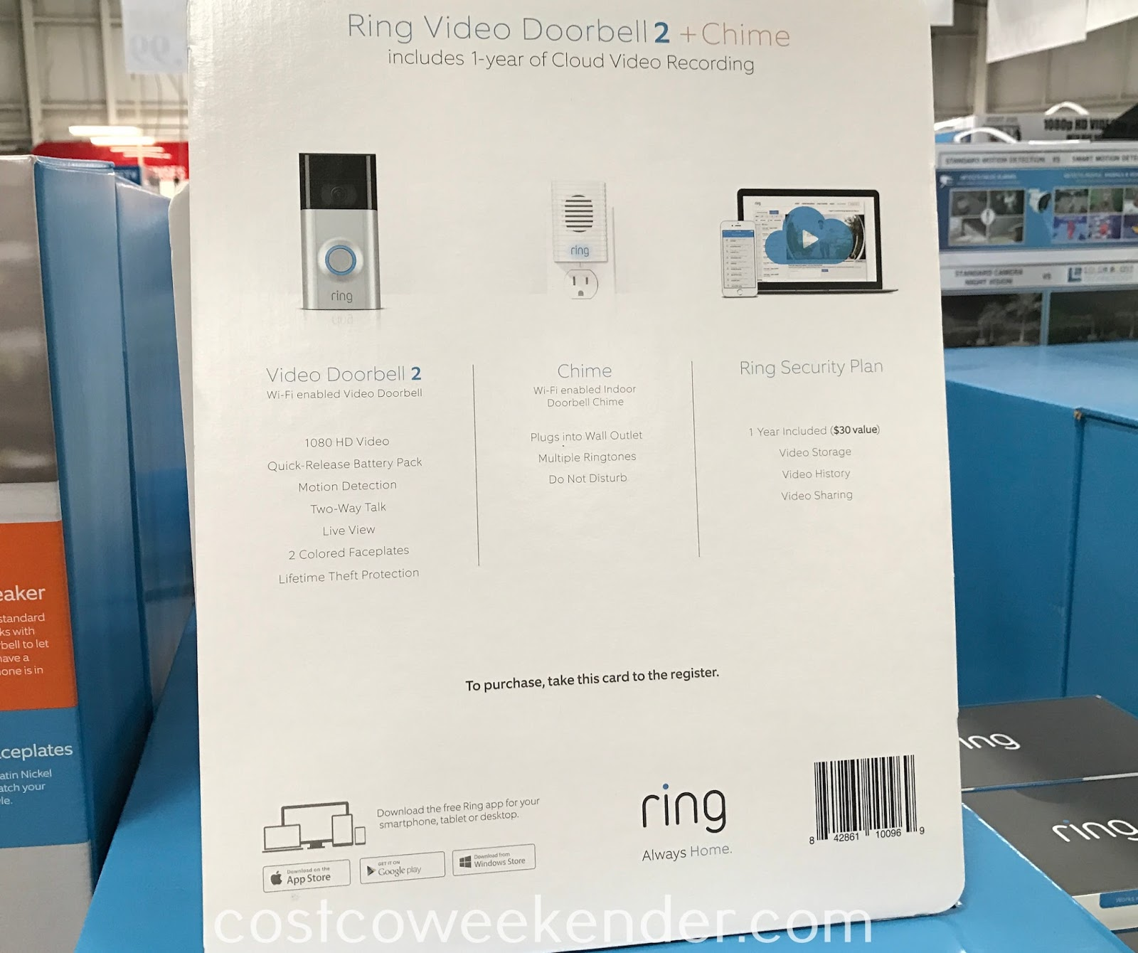 Costco 1179073 - Ring Video Doorbell 2 + Chime: great for any home