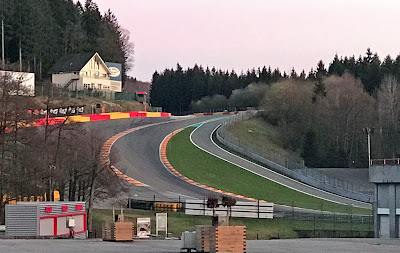 My first sight of Eau Rouge - much steeper than I thought it would be, oooohhhh exciting!