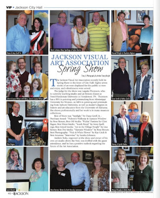 Jackson Visual Art Association Spring Show, VIP magazine