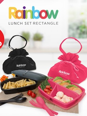 Rainbow Lunch Set Rectangle