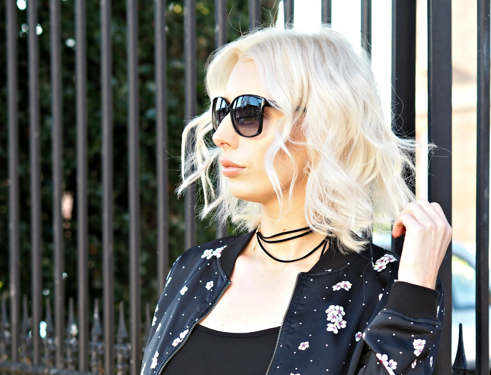 LOB haircut, blonde, platinum, beauty blogger
