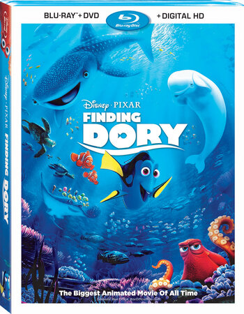 Finding Dory (2016) Dual Audio Hindi 480p BluRay x264 300MB ESubs Movie Download