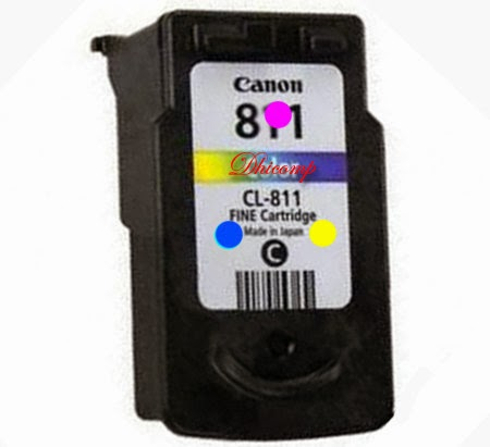 Posisi Tempat Warna Pada Cartridge Cl 811 Pixma Ip 2770 Dhicomp