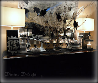 halloween sideboard decorations