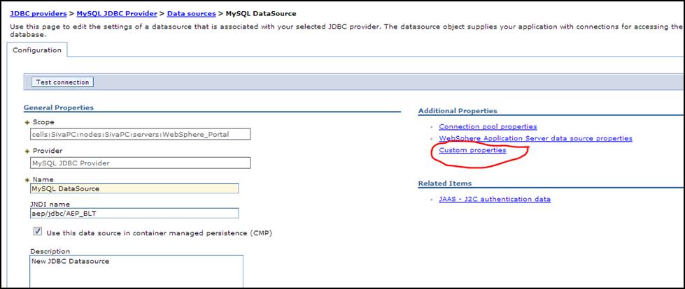Siva R Vaka: Creating MySQL datasource on Websphere Application Server