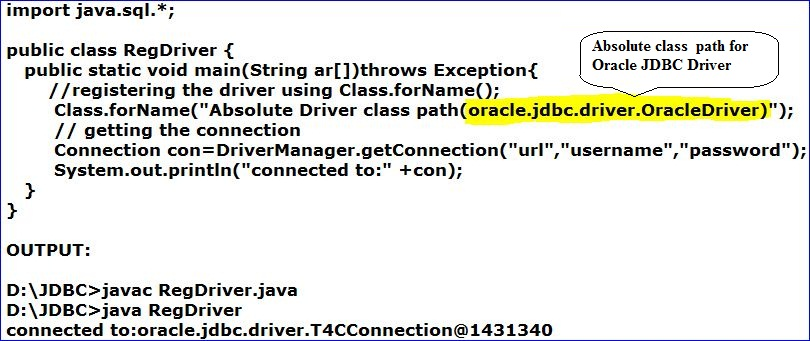 Java oracle jdbc driver string