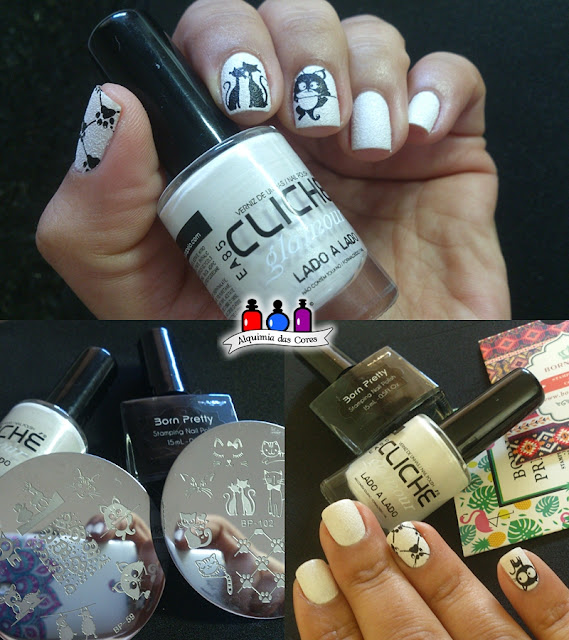 Odisseia Esmaltada,branco, Cliché Gel, Essence, Extra Black DRK Nails, Hello Kitty 04, Rosa Chiclete, SB007, SB022, SB043, Sugar Bubbles, Wild White Ways, Lado a Lado, BP 59, BP 102, Texturizado,