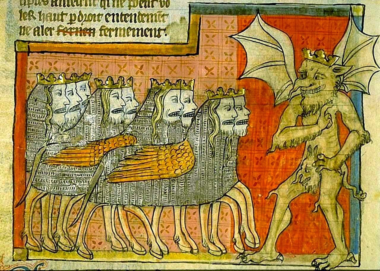 A perseguição do Anticristo. Apocalipse 1220-70. Biblioteca de Toulouse, França.