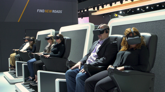 Chevy Gives Auto Show Attendees 4-D Virtual Reality Experience
