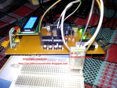 Bluetooth Module (HC-06) Interfacing with PIC Microcontroller [Step by Step Picture]