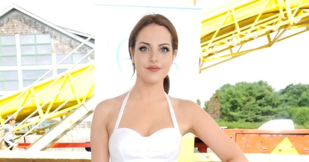 elizabeth gillies � hot white dress at the einstein