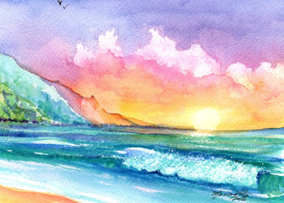 https://www.etsy.com/listing/465150257/hanalei-kauai-beach-original-watercolor