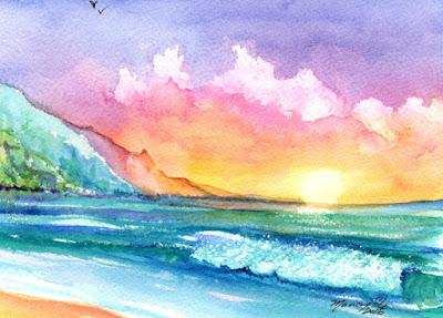 https://www.etsy.com/listing/465150257/hanalei-kauai-beach-original-watercolor