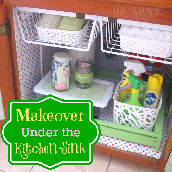10 Amazing Ideas To Utilize The Space Under The Sink For Storage: Under The Sink {31 Cheap & Easy DIY Organizers