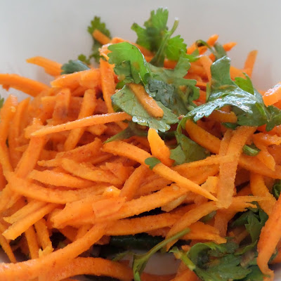 Moroccan Raw Carrot Salad:  A delicious and colorful carrot slaw with bold flavors.