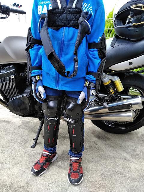 バイク用プロテクターの写真