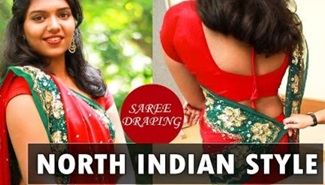 How to: North Indian Style saree drape!
