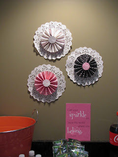 DIY paper medallions party decorations