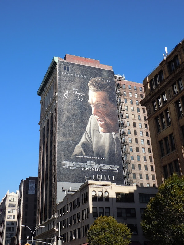 Giant J. Edgar billboard NYC