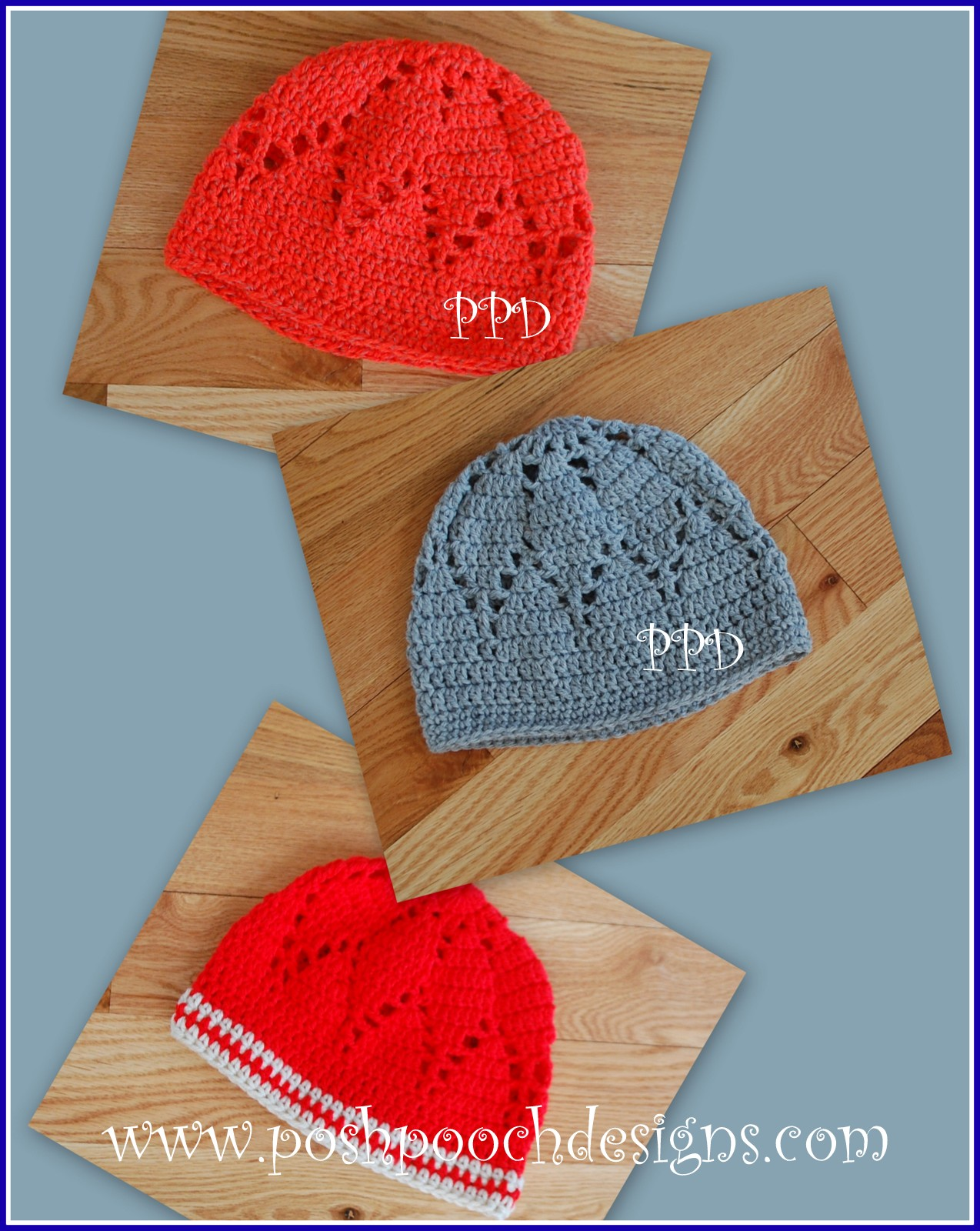 Free Crochet Pattern Dog Beanie : Posh Pooch Designs Dog Clothes: Pineapple Stitch Beanie ...