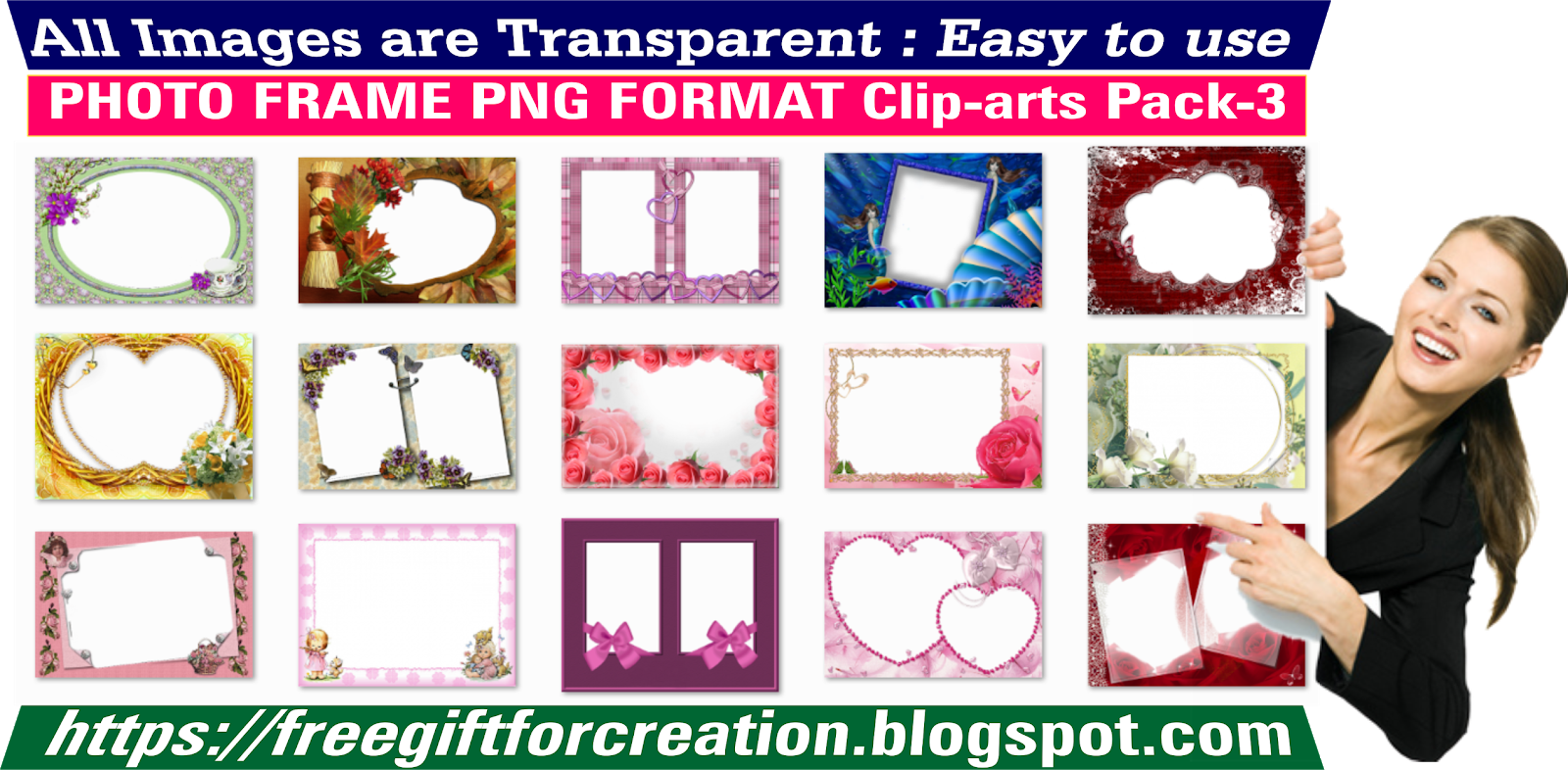 4b5732c033e4 Free Download Photo Frame PNG Format Clip-arts Pack-3