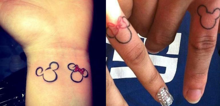 Tatuagem Do Mickey E Minnie Fotos Toda Atual