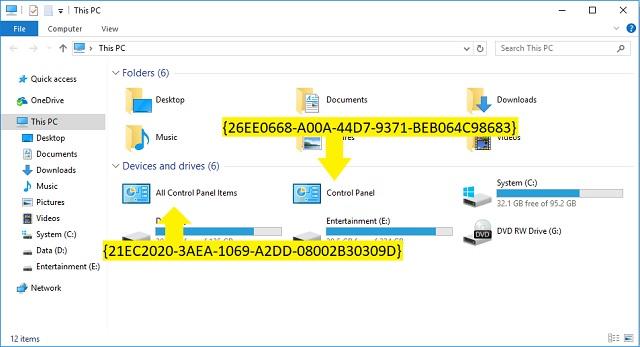 Cara menambahkan Control Panel ke File Explorer 4