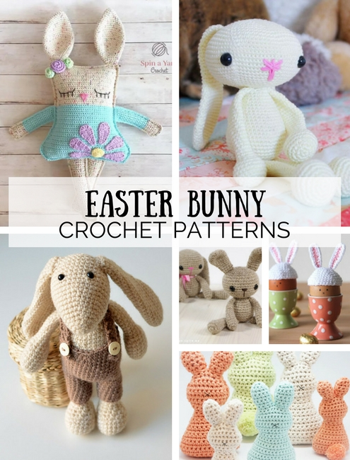 Easter bunny crochet patterns, free crochet patterns | Happy in Red