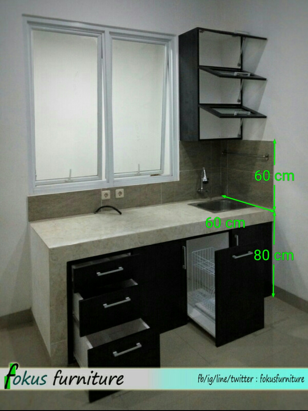 Ukuran kitchen set furniture kitchen set minimalis for Harga lemari kitchen set