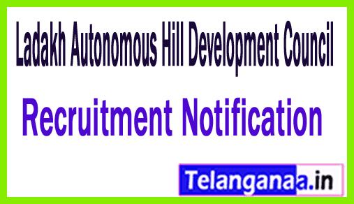 Ladakh Autonomous Hill Development Council LAHDC Recruitment