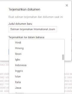 Pilhan Bahasa Translate PDF
